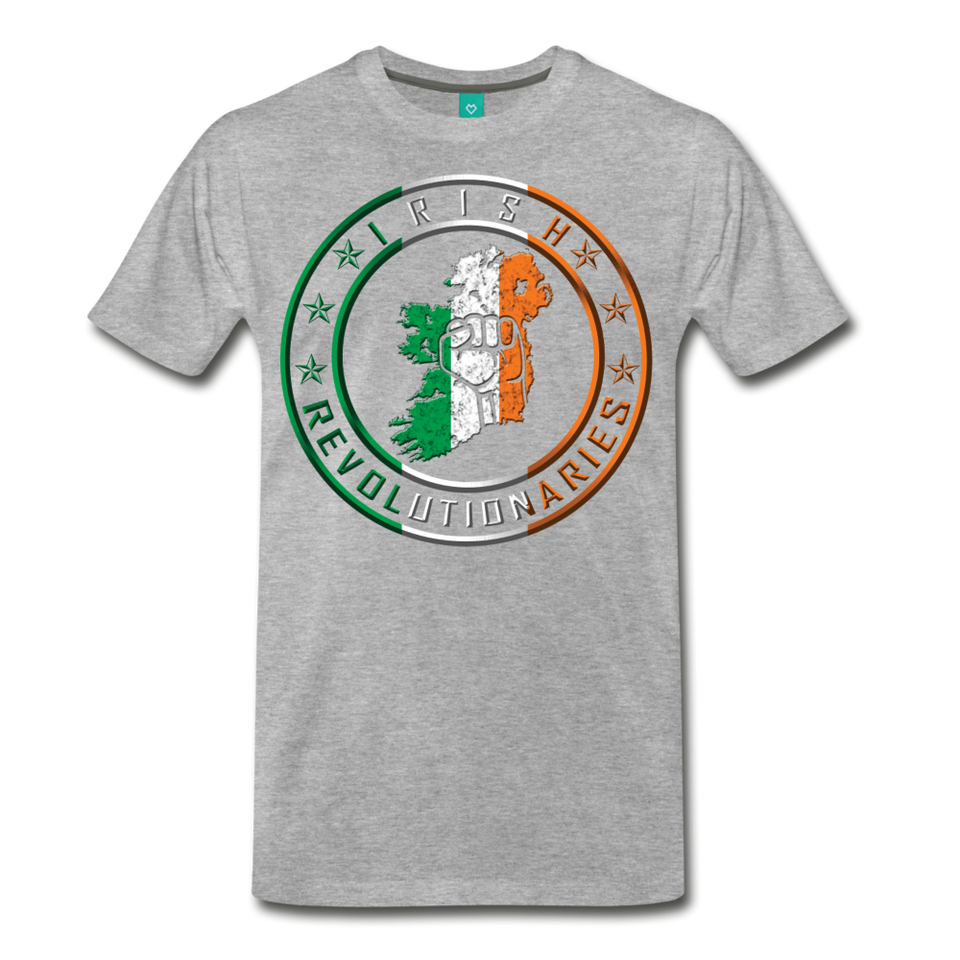 Irish Logo Men's Premium T-Shirt - heather gray
