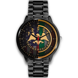 Proud Irish American Black Unisex Watch