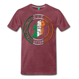 Irish Logo Men's Premium T-Shirt - heather burgundy