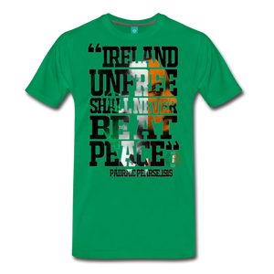 Padraig Pearse Men's Premium T-Shirt - kelly green