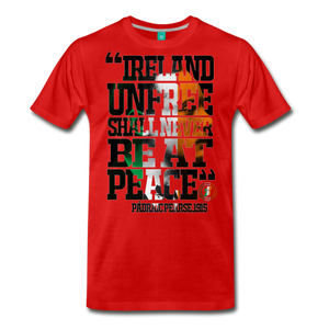 Padraig Pearse Men's Premium T-Shirt - red