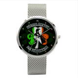 Irish Revolutionaries Watch With Casual Stainless Steel Band