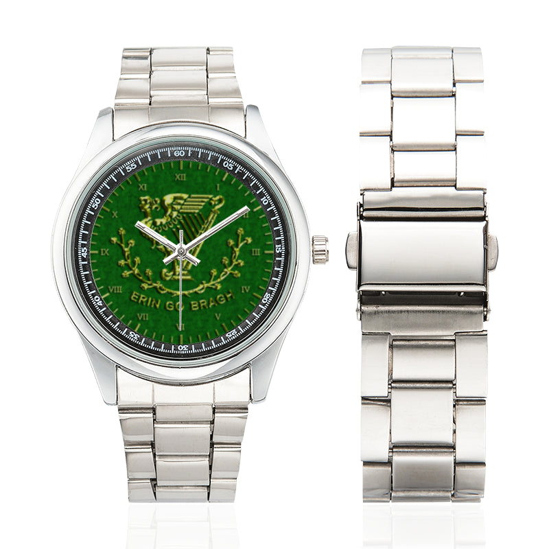 Erin Go Bragh Men'S Stainless Steel Watch