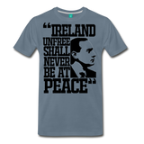 Padraig Pearse Men's Premium T-Shirt - steel blue