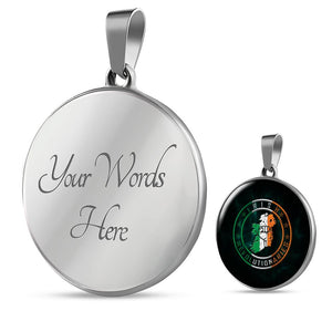Irish Revolutionaries Logo Circle Luxury Necklace
