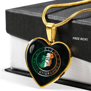 Irish Revolutionaries Heart Luxury Necklace