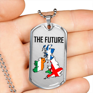 Brexit - The Future Dog Tag Transparent Background