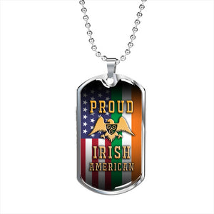 Proud Irish American Dog Tag