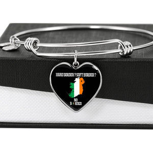No Border In Ireland Luxury Heart Bangle Series II