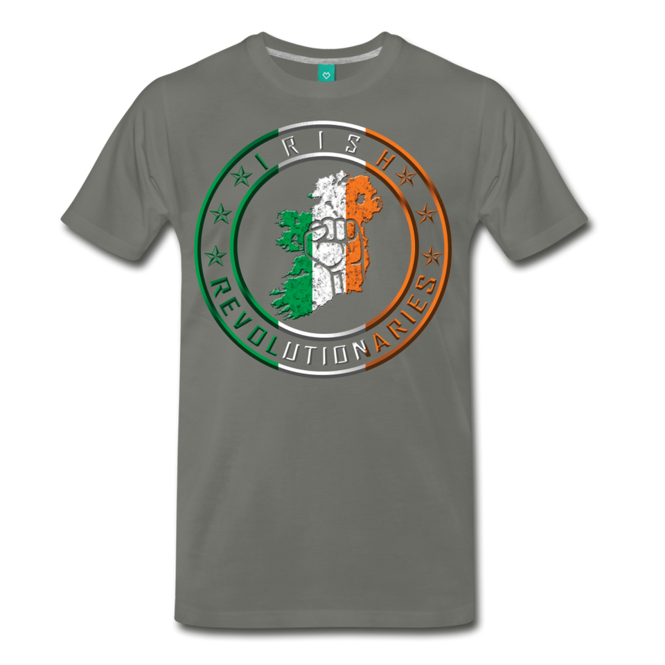 Irish Logo Men's Premium T-Shirt - asphalt gray
