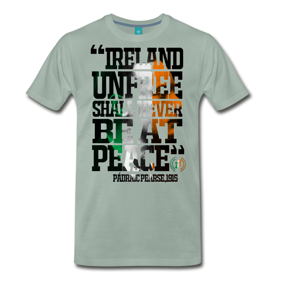 Padraig Pearse Men's Premium T-Shirt - steel green