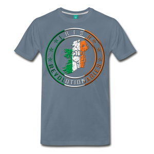 Irish Logo Men's Premium T-Shirt - steel blue