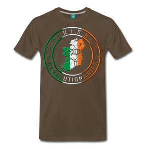 Irish Logo Men's Premium T-Shirt - noble brown
