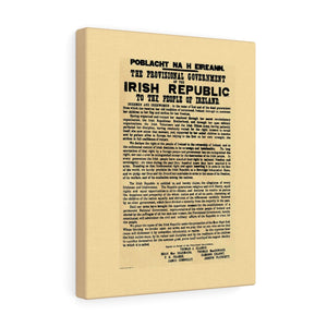 Irish Proclamation Of 1916 Canvas Gallery Wrap