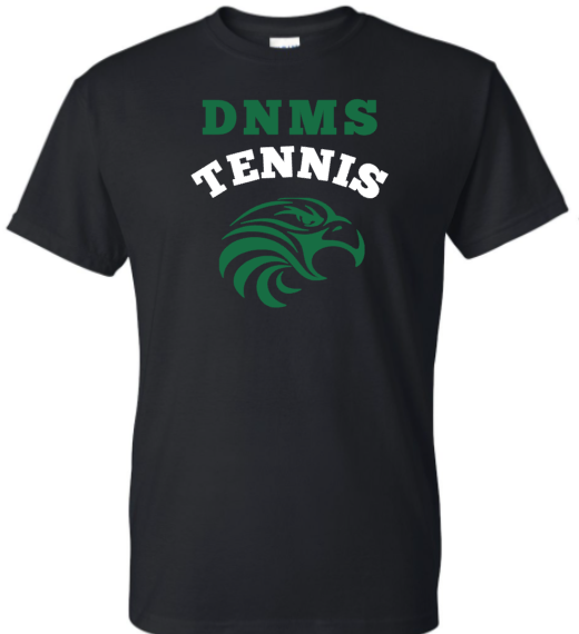 DNMS Tennis black tshirt