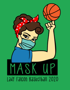 Mask up DNMS Falcons basketball shirt