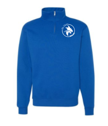 Blue Quarter Zip sweatshirt