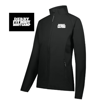 Derby Fit Body Ladies 100% polyester zip up jacket