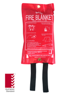 Fire Blanket 1.2m x 1.2m, FREE location sign
