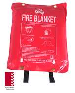 Fire Blanket 1.8m x 1.8m, FREE location sign
