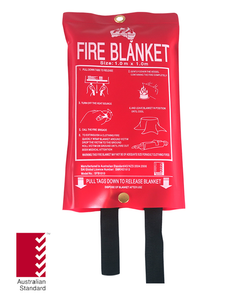 Fire Blanket 1m x 1m, FREE location sign