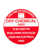 Fire Extinguisher Sign ABE Plastic
