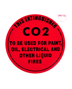 Fire Extinguisher Sign C02 Plastic