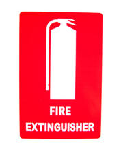 Load image into Gallery viewer, Fire Extinguisher Cabinet 9.0kg Plastic-Yellow Transparent Front Cover, FREE location sign + ID sign