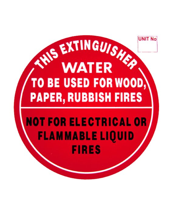 Fire Extinguisher Sign Water