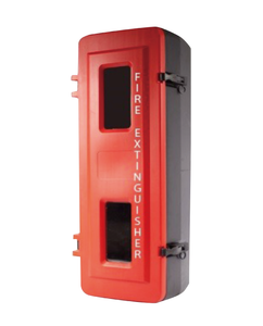Fire Extinguisher Cabinet 9.0kg Large Plastic, FREE location + ID sign
