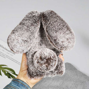 Rabbit Ears Furry fluffy Fur Cover for iPhone Cases
