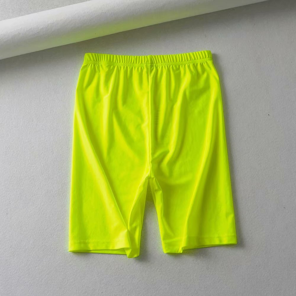 Summer vintage high waist shorts women sexy biker shorts short feminino cotton neon green black shorts sweatpants