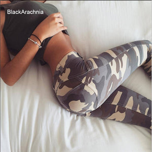 BlackArachnia Fashion Camouflage Yoga Leggings Big Peach Heart Sports Pants Fitness Yoga Jeggings Women High Waist Gym Leggings - BHsportswear.com