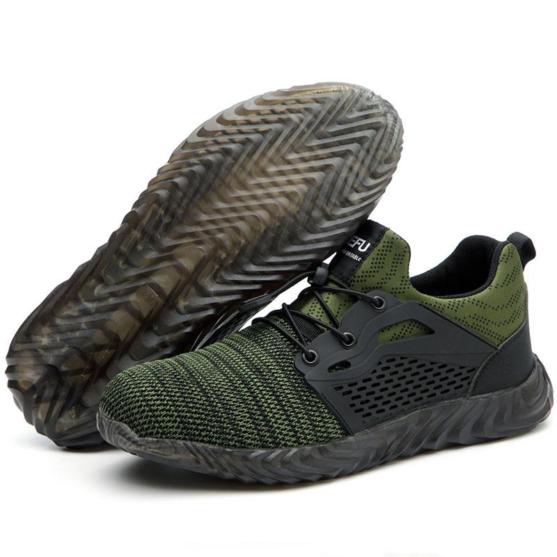 Military Grade Steel Toe Air Mesh Breathable Safety Shoes - Redbovi.com