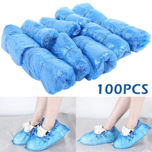 100Pcs Dust Shoes Covers Pouch Plastic Waterproof Shoes Cover Case Rainy Day Outdoor Cleaning Disposable Shoe Covers for Machine - Redbovi.com