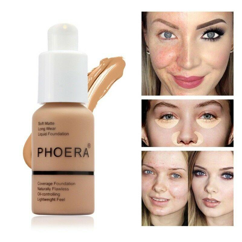 PHOERA® Soft Matte Full Coverage Liquid Foundation - Redbovi.com
