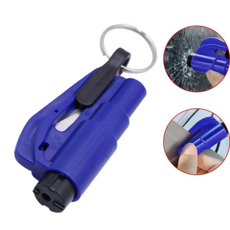 Car Emergency Tool: Quickly breaks windows, tearing seat belts. A must, for every car owner. - Redbovi.com