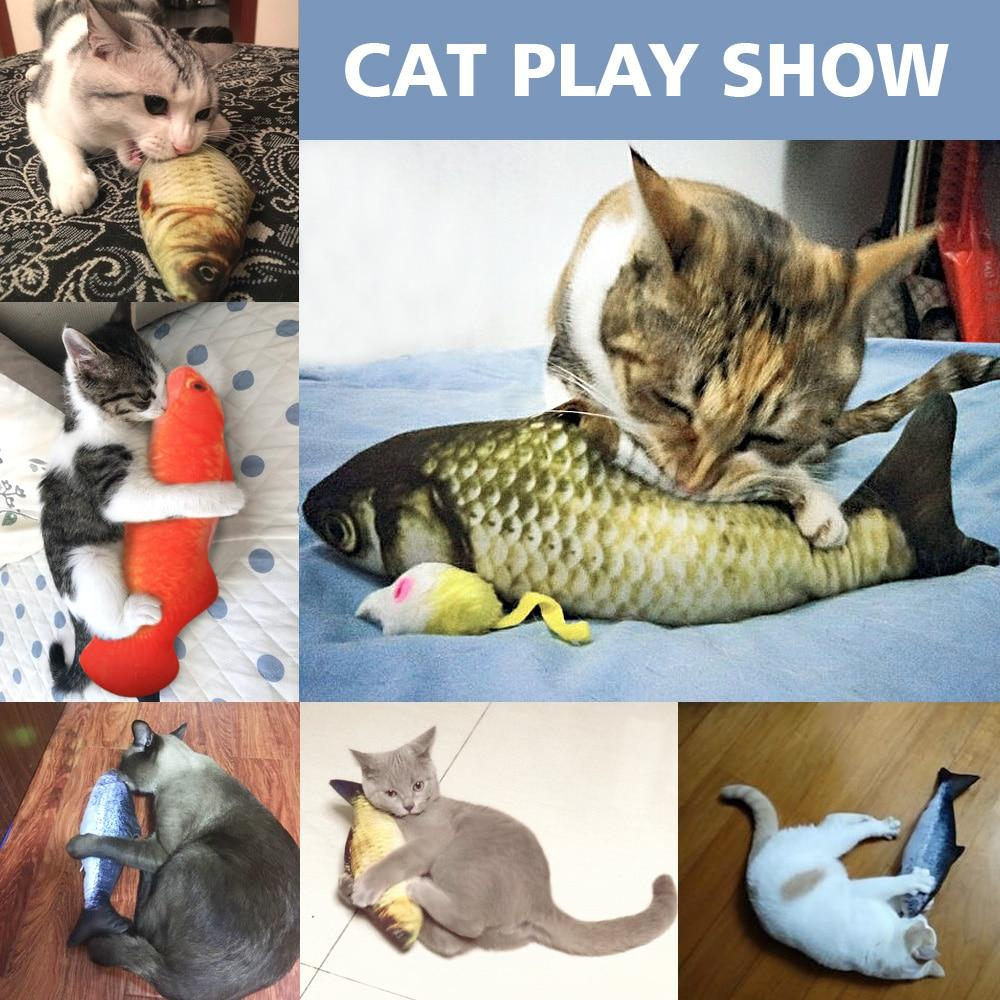 Cat Toy 3D Fish-Shaped Pillow - Redbovi.com