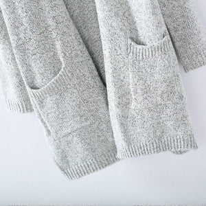 Autumn Winter Fashion Women Long Sleeve loose knitting cardigan sweater Women Knitted Female Cardigan pull femme