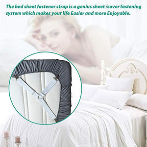 4Pcs/set Elastic Bed Sheet Grippers Belt - Redbovi.com
