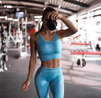 2PCS Sports Suits Women Bra+Pants - BHsportswear.com