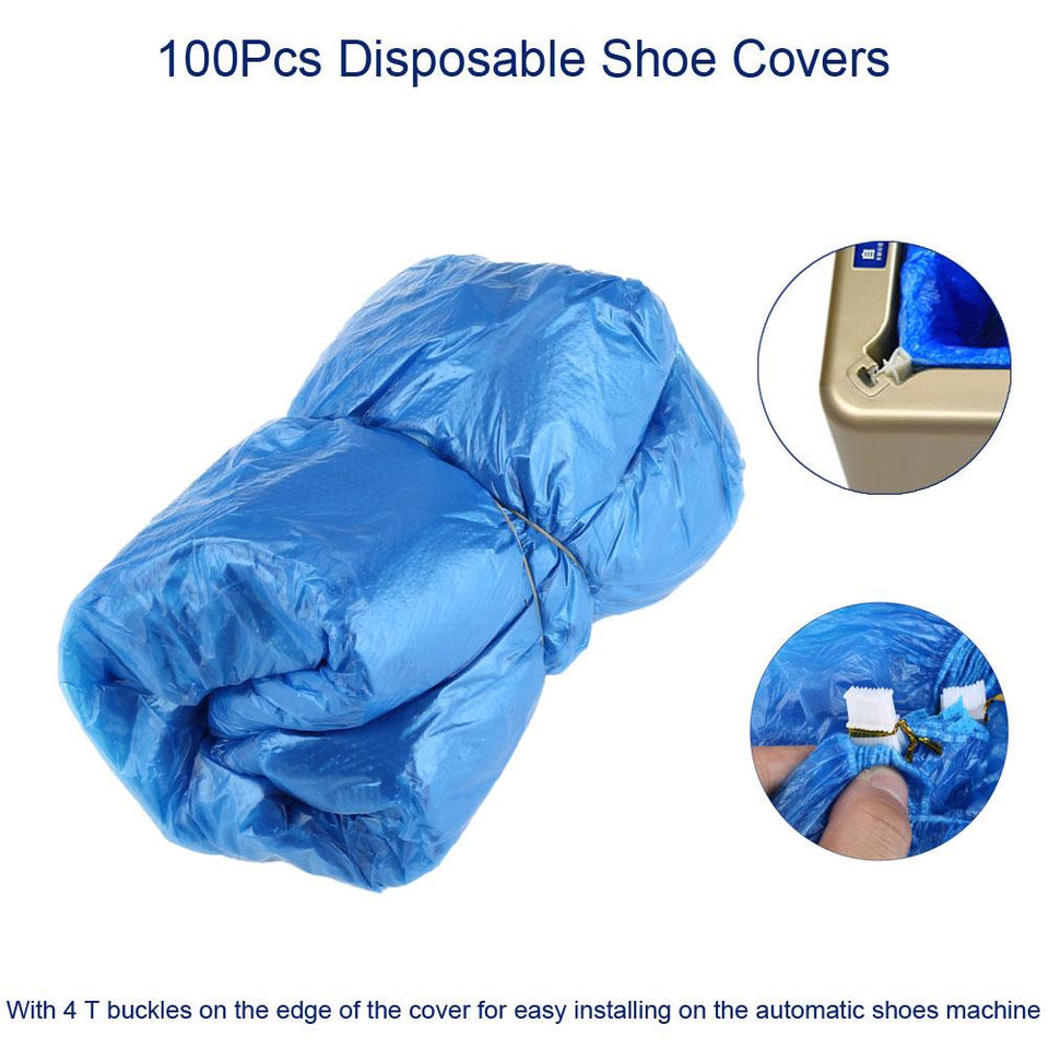 100Pcs Dust Shoes Covers Pouch Plastic Waterproof Shoes Cover Case Rainy Day Outdoor Cleaning Disposable Shoe Covers for Machine