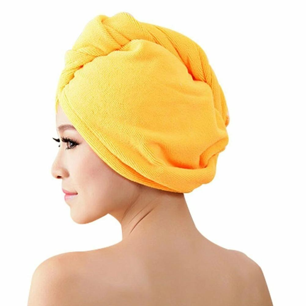 Hair-drying Towel Double Side Coral Fleece Dry Hair Hat - Redbovi.com