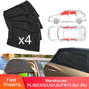 4pcs Car Slip On Window Shades