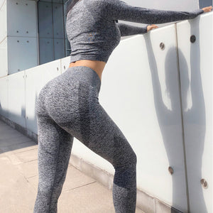 Women Seamless Yoga Set Pants+Shirts Bra Tops - BHsportswear.com