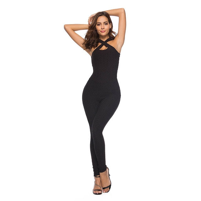Women's Fitness Yoga Jumpsuit Sport One-pieces Sports Suit Set Conjoined Sweatpants Yoga Sets Sexy Running Workout Gym Clothes - BHsportswear.com