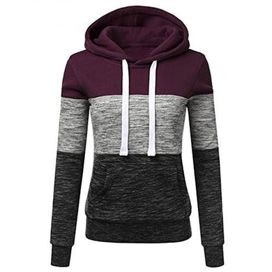 Woman Pullover Hoodies Striped Jacket - BHsportswear.com
