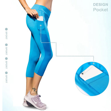 Women Gym Leggings 3/4 Tights strenchy Yoga-pants - BHsportswear.com