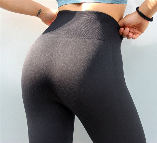 Female High Waist Capris Leggings For Sport Fitness Tights Woman Sports Wear Gym Women's Yoga Pants Leggins Women Sportswear - BHsportswear.com