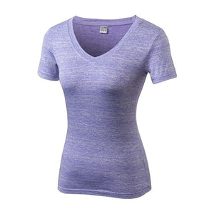 Sport T-Shirts Running V-neck  Elastic Quick Drying - BHsportswear.com